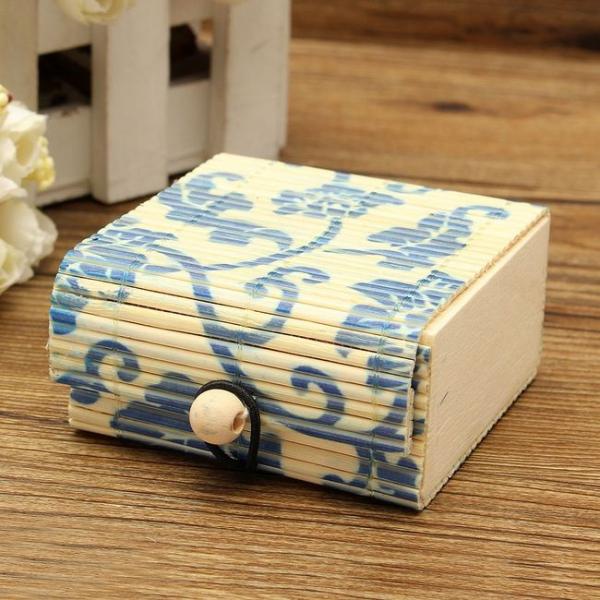 Cutie de bijuterii din lemn de bambus [0]