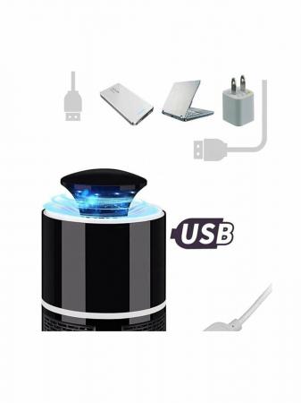 Lampa LED, 360 grade anti tantari, port USB, negru [3]