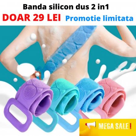 Banda de silicon pentru masaj si curatare 2in1