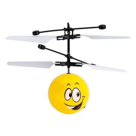 Elicopter mini galben Smiley cu infrarosii, Lioness, 16 x 5.5 x 17.5 cm [0]