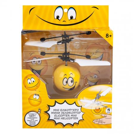 Elicopter mini galben Smiley cu infrarosii, Lioness, 16 x 5.5 x 17.5 cm [1]