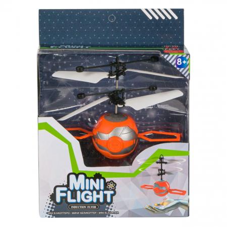 Elicopter mini portocaliu cu infrarosii, Lioness, 16 x 6 x 21 cm [1]