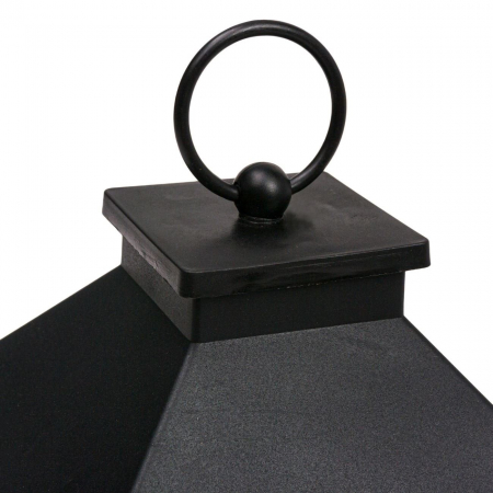 Felinar decorativ negru cu LED, Lioness, 14 x 14 x 22 cm [1]