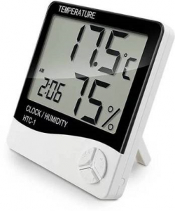 Ceas Digital Cu Termometru Si Higrometru Ecran LCD HTC-1 [0]