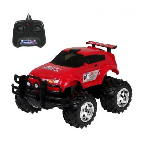 Masina de jucarie JEEP RACE Off-Road cu actionare din telecomanda, rosu, scara 1:15