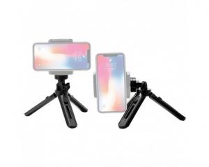 Mini Trepied Rotativ De 360 De Grade Pentru Telefon, Gopro, Negru [1]