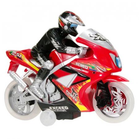 Motocicleta Race cu Rider, sunet si lumina, 30 x 24 x 10 cm