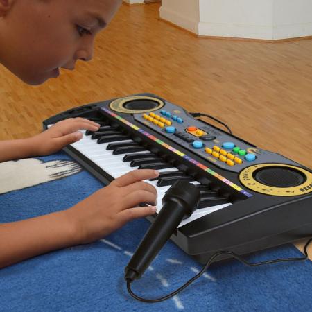 Orga electronica cu microfon, Lioness, 55 x 6 x 16 cm [2]