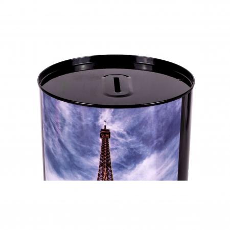 Pusculita metalica cu imprimeu turnul Eifel, Lioness, 12 x 15 cm [1]