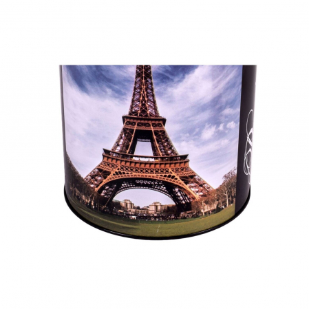 Pusculita metalica cu imprimeu turnul Eifel, Lioness, 12 x 15 cm [2]