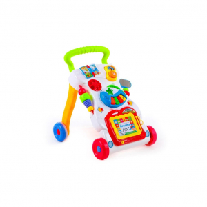 Antepremergator Baby First Step, Jucarii detasabile, tabla de scris, telefon, pian, toate detasabile, lumini si sunete, 45 cm inaltime [4]