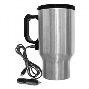 Termos / cana / recipient auto cu adaptor bricheta si fierbator / incalzitor incorporat 450 ml [0]