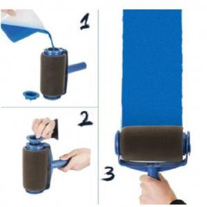 Trafalet Paint Roller Profesional cu umplere + rezervor si recipient,brat extensibil, 2 accesorii pentru Colturi,insta [1]