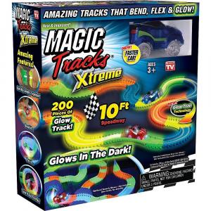 Circuitul Multicolor Magic Track cu o masinuta, 165 piese, fluorescent [1]