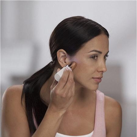 Epilator facial cu incarcare USB, Trimmer EGGO Skin, Aparat portabil pentru indepartarea parului facial cu LED- Flawless Finishing Touch USB - Alb/ Alaska White [1]