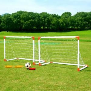 Set 2 porti de fotbal , cu o minge si o pompa de umflat, pentru exterior, + 3 ani , ATS [0]