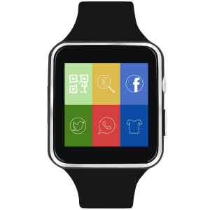 Smartwatch Usmart X6 ,ecran curbat ,cartela SIM,camera,notificari facebook,whatsapp,black [2]