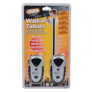 Set 2 statii Walkie Talkie cu antena, si lumina, din plastic, pentru copii + 3 ani , ATS [1]