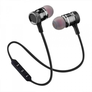 Casti Wireless Bluetooth 4.2 Magnetice Rovtop ,Microfon, Negru, cablu incarcare [0]