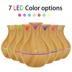 Umidificator de Aer cu Ultrasunete, Lemn cu LED [5]