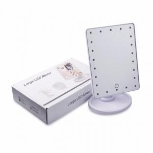 Oglinda alba pentru make-up cu 16 LED-uri, comutator ON / OFF [0]