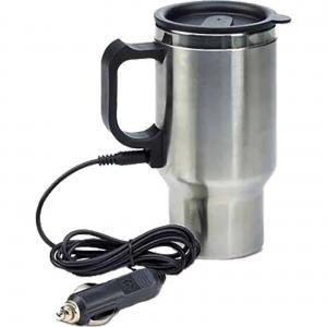 Termos / cana / recipient auto cu adaptor bricheta si fierbator / incalzitor incorporat 450 ml [1]