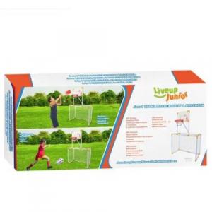 Poarta de fotbal + cos de baschet atasat 95x46x145 cm [2]