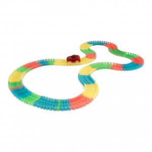Circuitul Multicolor Magic Track cu o masinuta, 165 piese, fluorescent [0]