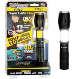 Lanterna tactica Tac Light Elite cu 5 moduri luminare si 2 surse de lumina, neagra [0]