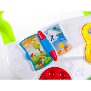 Antepremergator Baby First Step, Jucarii detasabile, tabla de scris, telefon, pian, toate detasabile, lumini si sunete, 45 cm inaltime [1]