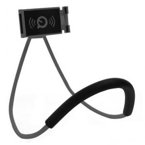Suport universal flexibil Lazy Neck negru pentru telefon [1]