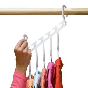 Set 8x Umerase Magic organizatoare haine, economisire 50% spatiu, Wonder hanger, alb [4]