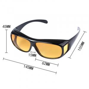 Set 2 ochelari pentru condus ziua si noaptea, HD VISION, lentila portocalie si fumurie, unisex [3]
