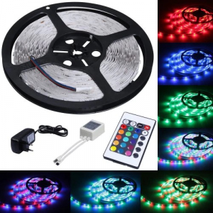 Banda LED cu telecomanda si 300 leduri,lungime 5 m [1]