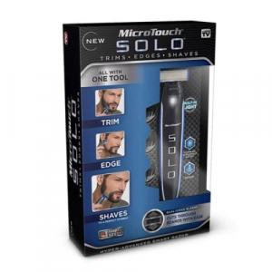 Aparat de ras electric Micro Touch, SOLO, fara fir, 3 piepteni distantieri, negru/albastru [3]