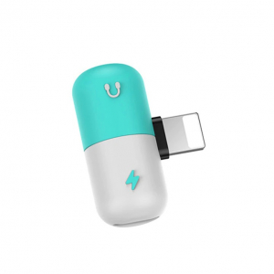 Adaptor universal compatibil Iphone, Lightning 2 in 1, incarcare rapida si casti simultan [0]