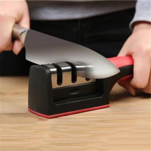 Aparat Pentru Ascutit Cutite Knife Grinder cu Maner Anti Alunecare 3 Nivele [0]