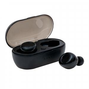 Casti wireless TWS A2, versiune bluetooth 5.0, microfon incorporat, distanta functionare 10 m, design minimalist, Negru [1]