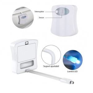 Lampa LED multicolor cu senzor pentru toaleta [4]