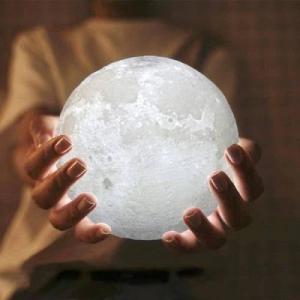 Lampa Luna Moon LED Portabila, Alb Cald si Rece, Intensitate Reglabila, Reincarcabila [5]