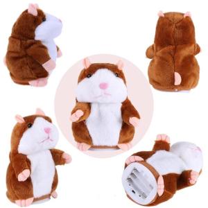 Jucarie interactiva hamster vorbitor din plus, Noname, Alb /Maro, + 3 ani [1]