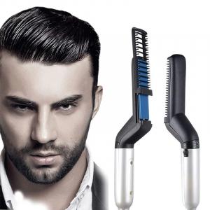Placa de indreptat parul si barba Barbati, Aparat de Par/Barba Profesional, Hair Straightening Curler Comb TotulPerfect [0]