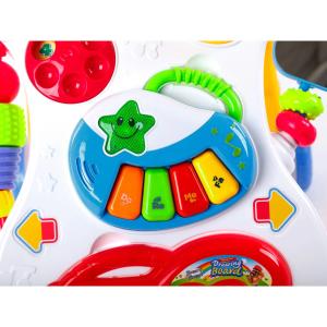 Antepremergator Baby First Step, Jucarii detasabile, tabla de scris, telefon, pian, toate detasabile, lumini si sunete, 45 cm inaltime [2]