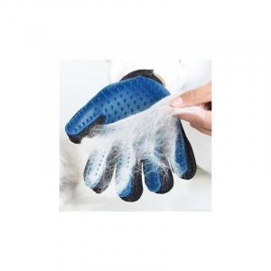 Manusa pentru periat animale True Touch, culoare albastru/negru [2]