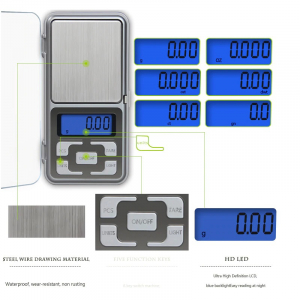 Mini cantar electronic de buzunar pentru bijuterii cu afisaj LCD, capacitate pana la 200g [2]