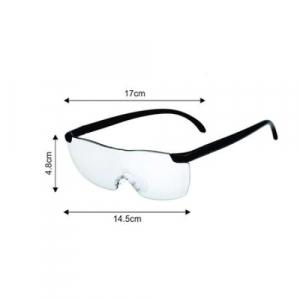 Ochelari cu lupa Big Vision, marire 160%, unisex, negru [2]