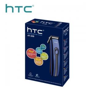 Aparat Profesional de Tuns copii si adulti , HTC AT209 cu acumulator, Tehnologie Superioara, fara fir, Lama otel inoxidabil, cutit ceramic si motor silentios, albastru [3]