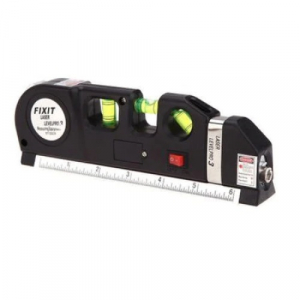 Nivela Laser cruce, orizontal si vertical, boloboc 3 bule, ruleta 2.5m si rigla aluminiu 15cm, multifunctionala 4 in 1 Laser, All in one [3]