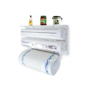 Dispenser de bucatarie triplu,hartie,folie aluminiu,folie stretch Deasupra dispenser-ului se pot pastra borcane de diferite dimensiuni. Caracteristici - realizat din material plastic tip ABS design si [1]