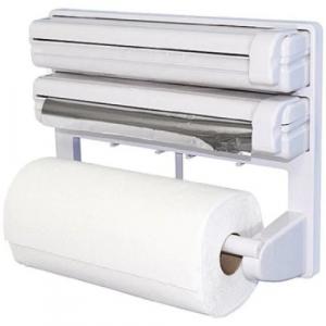 Dispenser de bucatarie triplu,hartie,folie aluminiu,folie stretch Deasupra dispenser-ului se pot pastra borcane de diferite dimensiuni. Caracteristici - realizat din material plastic tip ABS design si [2]